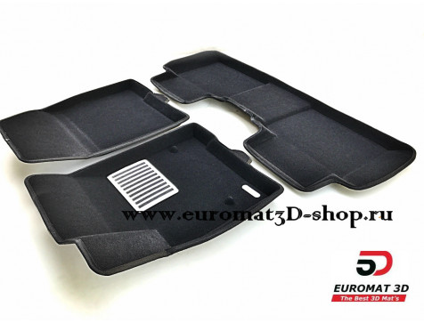 Текстильные 3D коврики Euromat3D Lux в салон для Cadillac XT5 (2017-) № EM3D-001307